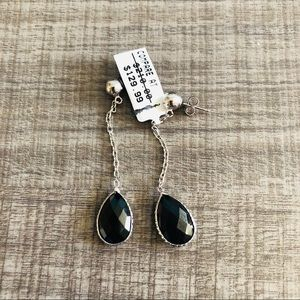 Drop Earrings With Silver Chain